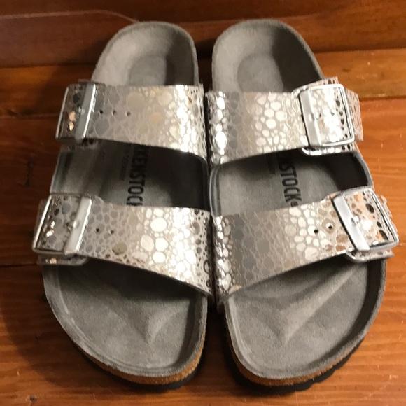 5c6851e2986 Birkenstock Arizona metallic stones sandals 38 7